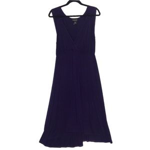 Plus Size 18 20 Lane Bryant Purple Wrap Over Dress
